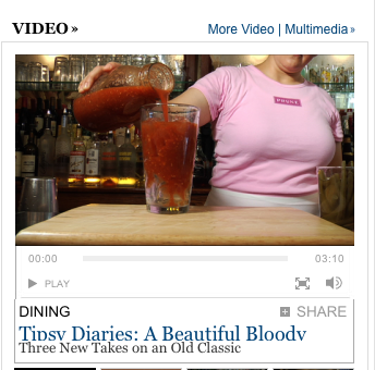 "screen shot of a nyt headline about ""beautiful bodies"" above an image showing a headless woman pouring wine"