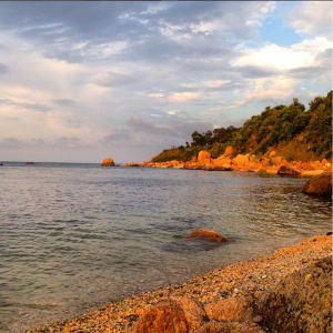 A photo of a cove on the Long Island Sound